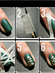 3Pcs/Lot 0.5Cm Creative Double Nail Stickers Adhesive Glue Tape 17 Meter\strip