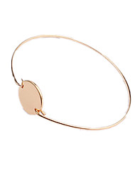 Women's Cuff Bracelet Copper Personalized Simple Style Jewelry Sliver Golden Jewelry 1pc