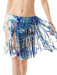 Feminino Saias-Balanço Color Block Com Fenda-Sexy Cintura Média Praia Longuete Elasticidade Poliéster Micro-Elástico All Seasons