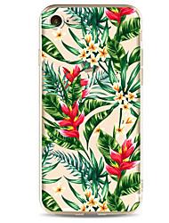 Pro iPhone X iPhone 8 iPhone 7 iPhone 7 Plus iPhone 6 Pouzdra a obaly Ultra tenké Vzor Zadní kryt Carcasă Květiny Měkké TPU pro Apple