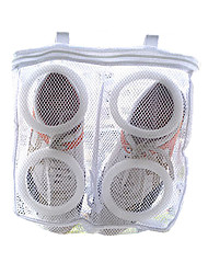 Fabric Portable Washing for Shoe Bags & Boxes Dust Proof Washing Hanging Shoes Care White