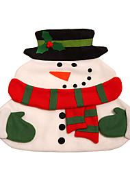 noël bonhomme de neige napperon - blanc double avec serviette fournitures de noël