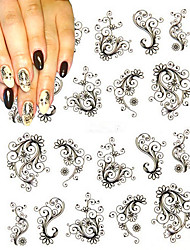 1 sheet Fashion Flower Nail Stickers Water Transfer Decals Foils Polish DIY