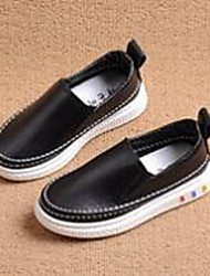 Girl's Loafers & Slip-Ons Comfort PU Casual Black Pink White