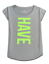 Femme Tee-shirt de Course Manches Courtes Séchage rapide Vestimentaire Respirable Confortable Hauts/Tops pourYoga Exercice & Fitness