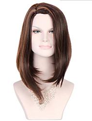 6A Synthetic Cosplay Wigs Women's Long Straight Brown Wig Heat Resistant Fiber Wig