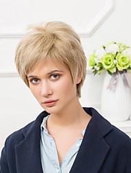mode à court capless perruques cheveux ombre humaine droite naturelle