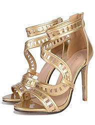 Women's Heels Spring / Summer / Fall / Winter Gladiator / Comfort / Novelty Leatherette Wedding / Party & Evening / Dress / Casual Rose Gold
