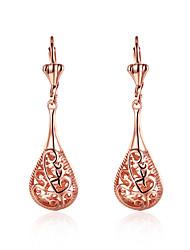 Boucles d'oreille goutte Bijoux Femme Mariage / Soirée / Quotidien Alliage / Plaqué Or Rose 1 paire Or Rose