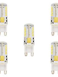2W G9 LED Doppel-Pin Leuchten T 57 SMD 3014 210-220 lm Warmes Weiß Kühles Weiß Wasserdicht V 5 Stück