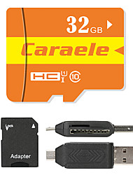 Caraele 32GB Micro SD card Class 10 80 OtherMultiple in one card reader Micro sd card reader SD card reader CF card reader Memory stick reader