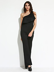 Women's One Shoulder Ruffle Jumpsuit