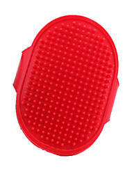 Dog Cleaning Brush / Baths Pet Grooming Supplies Massage Red Silicone