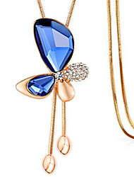 Women's Pendant Necklaces Crystal Alloy Geometric Unique Design Fashion White Blue Champagne Jewelry Daily Casual 1pc