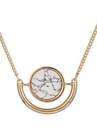 Necklace Pendant Necklaces Jewelry Party / Daily Round Basic Design Alloy Women 1pc Gift Gold