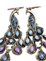 Mujer Pendientes colgantes Estilo popular Cosecha Joyería Destacada joyería de disfraz Zirconia Cúbica Brillante Legierung Pavo real Joyas