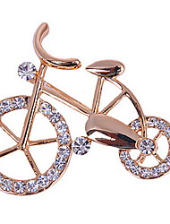 Fashion Woman Alloy Bicycle Brooch