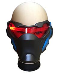 Masque Rouge/noir Résine Accessoires de cosplay Halloween / Carnaval / Nouvel an