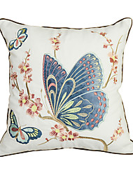 1 pcs Cotton Pillow Case Embellished&Embroidered Traditional/Classic Butterfly 2 Colors (Blue Green)