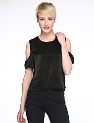 Women's Fashion Color  Loose Chiffon T-Shirt
