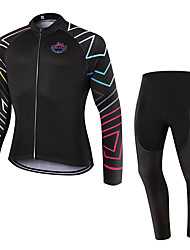 WOLFKEI Winter Thermal fleece Long Sleeve Cycling JerseyLong Tights Ropa Ciclismo Cycling Clothing Suits #WK72
