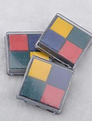 4cm x 4cm de cuatro colores scrapbooking bricolaje almohadilla de tinta de artesanía