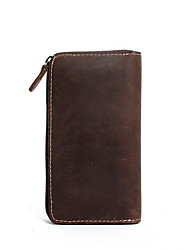 Unisex Cowhide Formal Casual Wallet All Seasons