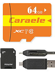 Caraele 64GB Micro SD card Class 10 80 OtherMultiple in one card reader Micro sd card reader SD card reader CF card reader Memory stick reader