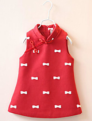 Girl's Casual/Daily Solid Dress,Rayon Winter Spring Fall