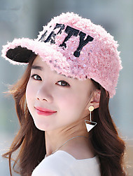 Women Winter Plush Letters Take Baseball Cap Women Fashion Cap