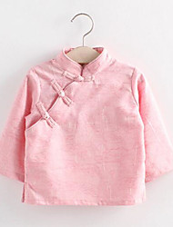 Girl Casual/Daily Solid Blouse,Cotton Summer