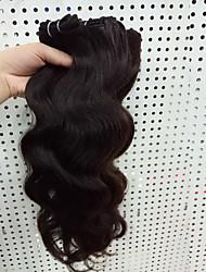 3 Pièces Ondulation naturelle Tissages de cheveux humains Cheveux Brésiliens 8-30inch Extensions de cheveux humains