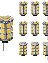 Diammable G4 LED Lamp 3.5W DC 12V 27 SMD5050 Replace 30W Halogen Candle Light Bulb (10 Pieces)