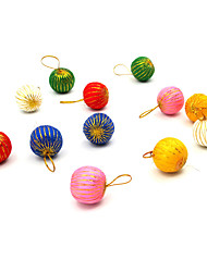 Christmas Decorations / Christmas Party Supplies Holiday Supplies Spherical Plastic Red / White / Green / Blue / Pink / Orange Above 14