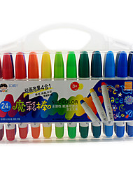 24-Color Oil Painting Student Pen Crayons Pen Can Be Washed Safe Non-Toxic