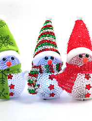 Christmas Decorations / Christmas Party Supplies Holiday Supplies Snowman Plastic Rainbow 2Pcs/ Random