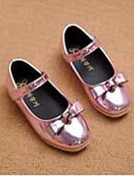 Girl's Flats Comfort Patent Leather Casual Pink Gold