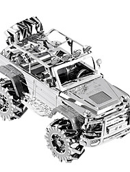 3D Puzzles For Gift  Building Blocks Model & Building Toy Car Metal 14 Years & Up Silver Toys