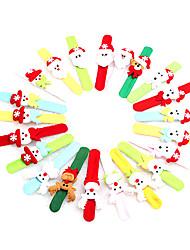 Товары для Рождественской вечеринки Рождественские игрушки Товары для отпуска 5Pcs Рождество Металл Текстиль Радужный