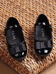 Girl's Flats Comfort PU Casual Black Red