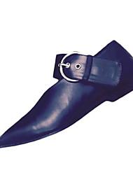 Damen-Loafers & Slip-Ons-Lässig-PU-Flacher Absatz-Komfort-Schwarz