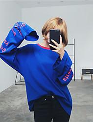 assinar letra vermelha net coreano vermelho azul Vetements t-shirt de manga comprida