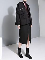 Xie Jin design new winter zipper pocket short paragraph wool coat