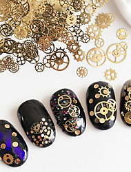 Mixed Sizes Variform Time Gear  punk Style Nail Jewelry