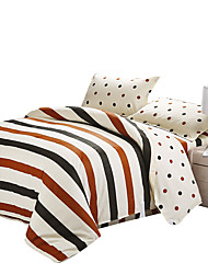 Mingjie 100% Cotton Grey Stripes Bedding Sets 4PCS for Twin Full QueenSize from China Contian 1 Duvet Cover 1 Flatsheet 2 Pillowcases