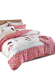 Mingjie 100% Cotton Hats and Beard Bedding Sets 4PCS for Twin Full QueenSize from China Contian 1 Duvet Cover 1 Flatsheet 2 Pillowcases