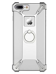 Para Case Tampa Antichoque Suporte para Alianças Capa Traseira Capinha Cor Única Rígida Metal para AppleiPhone 7 Plus iPhone 7 iPhone 6s