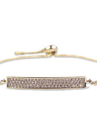 Women's Chain Bracelet Crystal Zircon Cubic Zirconia Classic Fashion Silver Golden Rose Gold Jewelry 1pc