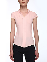Женский Женский С Х-образными бретелями Блуза V-образный вырез,С короткими рукавами,Полиэстер