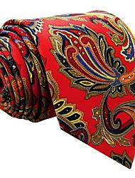 mens cravatta cravatta rossa floreale moda casual seta di 100% per gli uomini